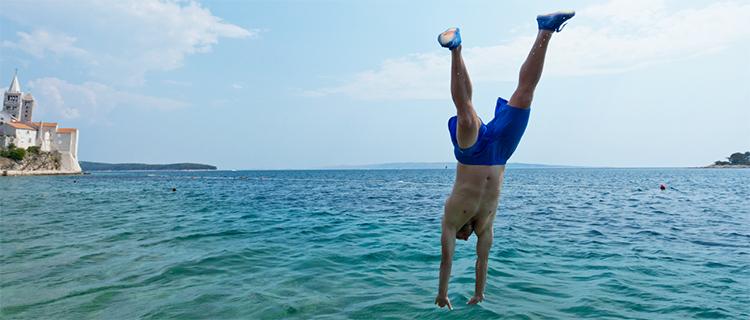 Swimming off Rab, Croatia