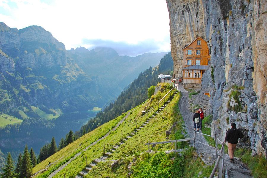 Berggasthaus Aescher, Ebenalp, Switzerland