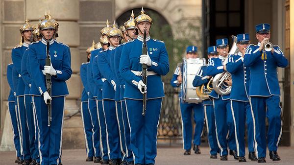 Noon Military Parade, Royal Palace, Stockholm, Sweden