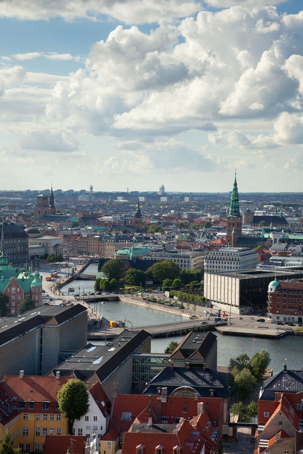View of from Our Savior's Church spire, Copenhagen, Denmark