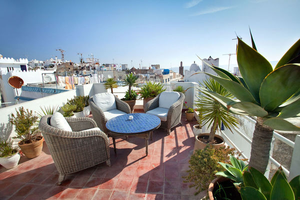 Hotel rooftop, Tangier, Morocco