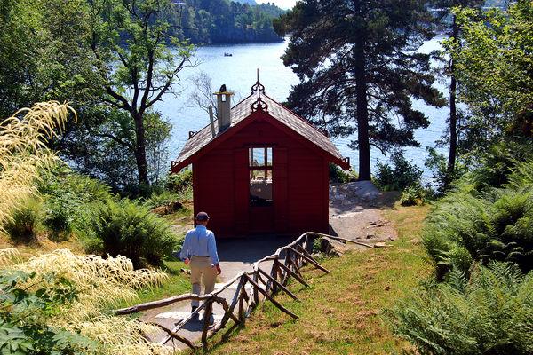 Edvard Grieg's composing hut at Troldhaugen, Bergen, Norway