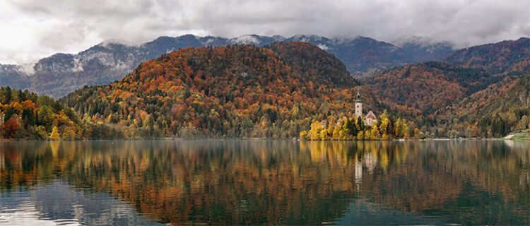 October in Lake Bled, Slovenia