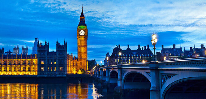 Big Ben and Westminster Bridge, London, England