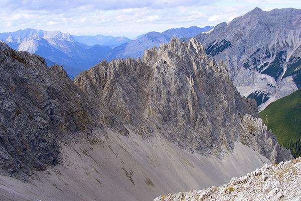 "The Nordkette (""Northern Chain"") Alps as seen from Hafelekar near Innsbruck, Austria"