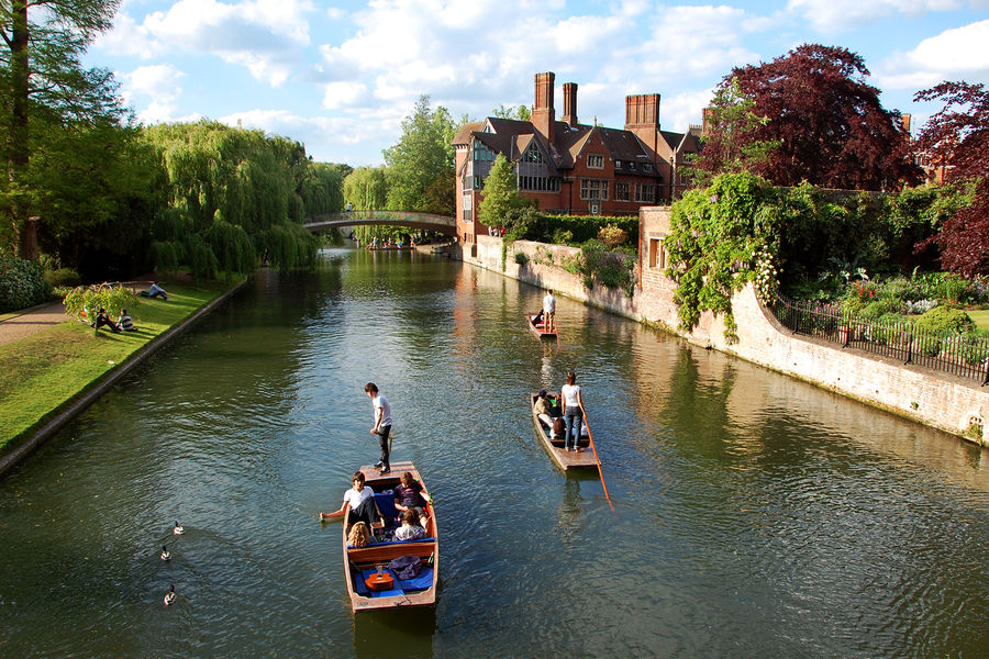 Punting on the River Cam, Cambridge, England