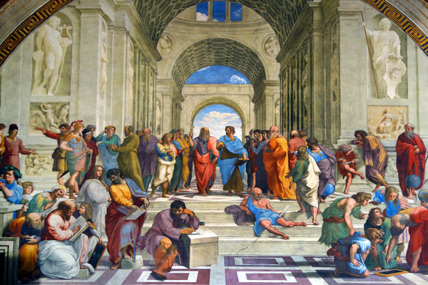 'The School of Athens' (Raphael), Vatican Museums, Rome, Italy