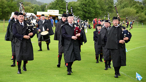 Pipers at a Highland Games, Taynuilt, Scotland