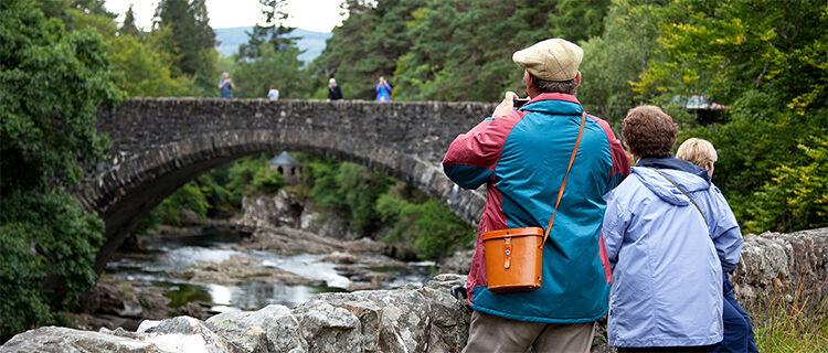 Telford bridge near Invermoriston Falls, near Loch Ness, Scotland