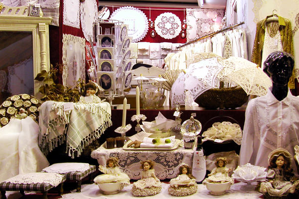 Lace shop, Brussels, Belgium