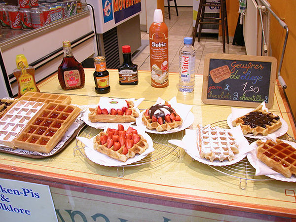Waffle options in Brussels, Belgium