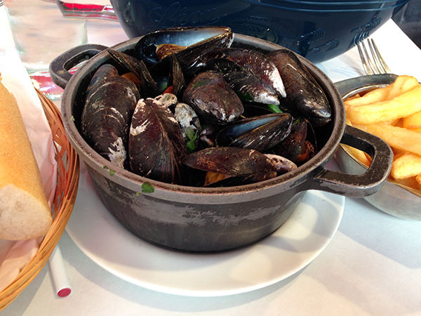 Mussels served in Brussels, Belgium
