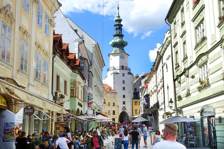 Michalská Street and St. Michael's Gate, Bratislava, Slovakia