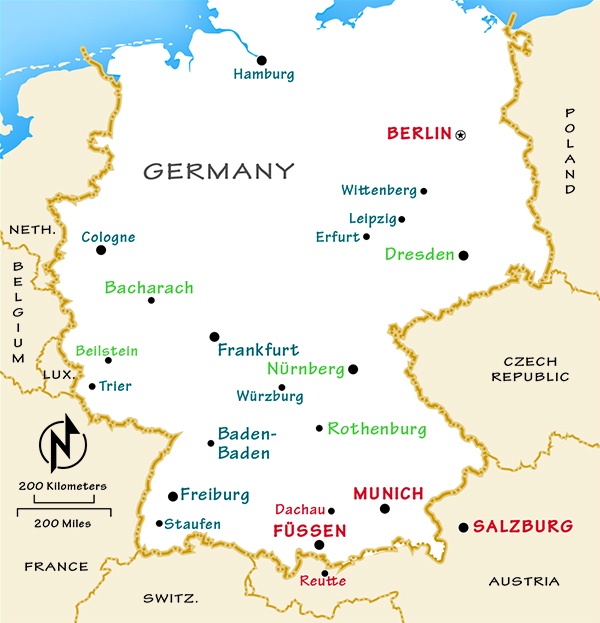 Capital Of Germany Map.Germany Travel Guide By Rick Steves