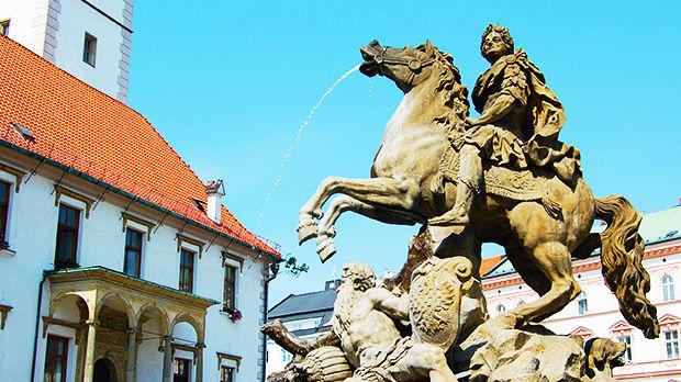 Upper Square, Olomouc, Czech Republic