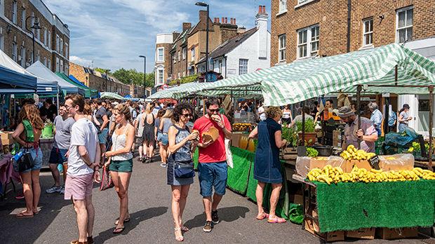 Market in London, England
