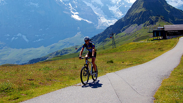 Cycling in Berner Oberland, Switzerland
