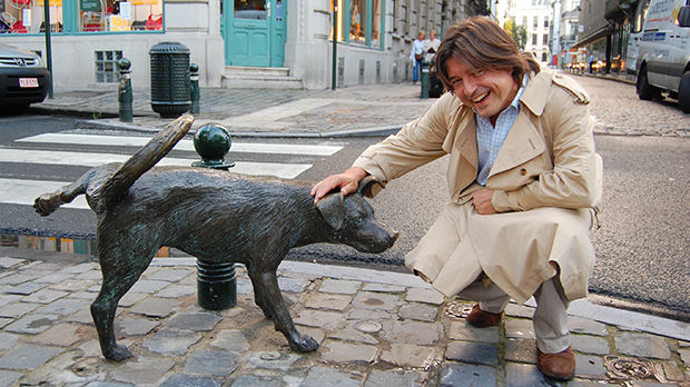 Het Zinneke statue in Brussels, Belgium