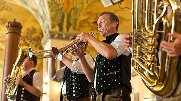 Live music at Hofbräuhaus in Munich, Bavaria