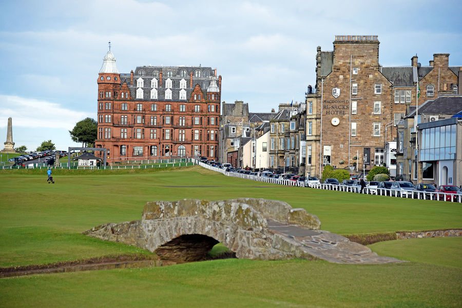 Old Course and Swilcan Bridge, St. Andrews, Scotland