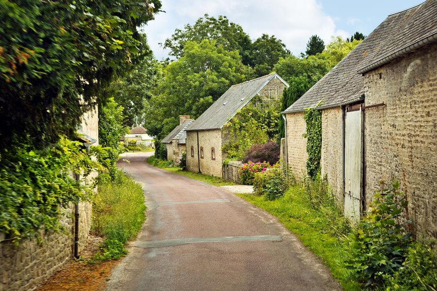 Cottages in Normandy, France