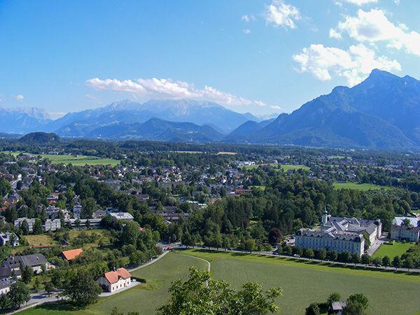 View from Hohensalzburg Fortress, Salzburg, Austria