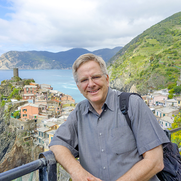 Rick Steves in Vernazza, Italy