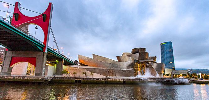 The Guggenheim in Bilbao, Spain