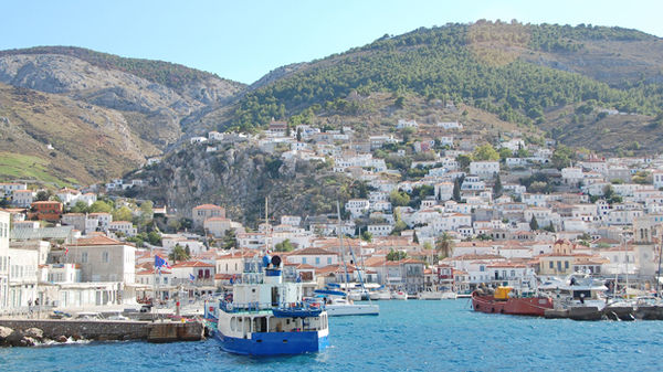 View off the coast of Hydra, Greece