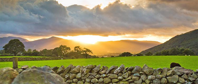 Sunset in Keswick, England