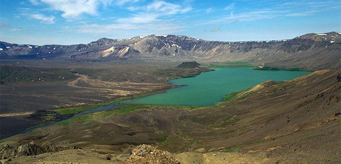 Caldera of Aniakchak Volcano, Aniakchak National Monument and Preserve, Alaska, USA