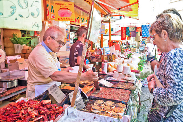 Ballaro Market in Palermo, Sicily, Italy