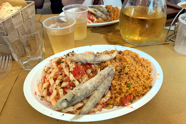 Delicios couscous in Trapani, Sicily, Italy