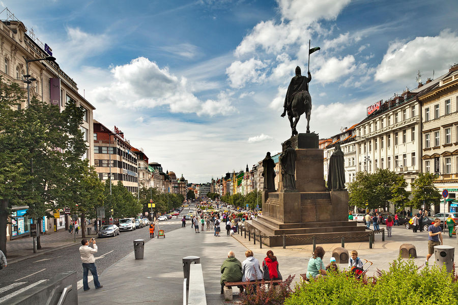 Wenceslas Square, Prague, Czech Republic