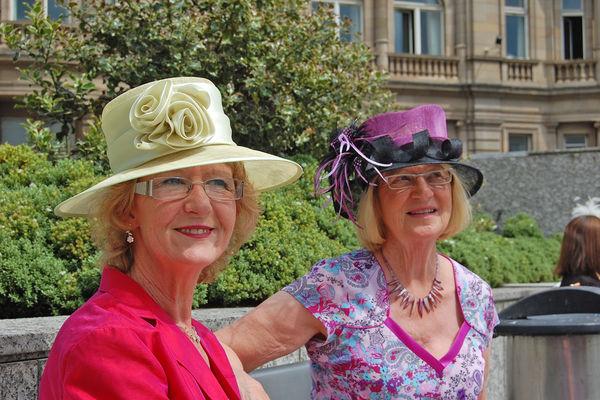 Hatted ladies in Edinburgh, Scotland