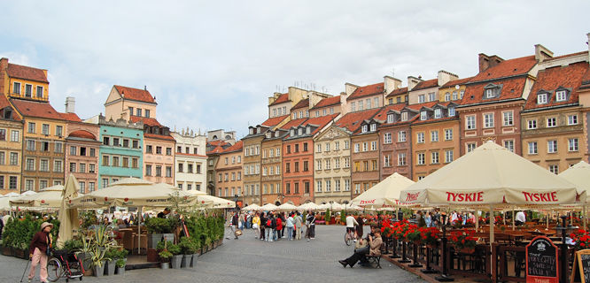 Old Town Market Square, Warsaw, Poland