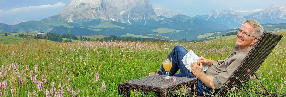 Rick relaxing in the Dolomites, Italy