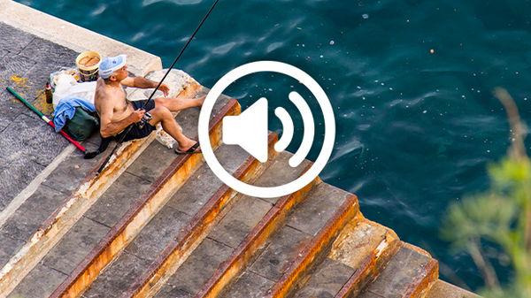 Two fishermen in Positano, Italy
