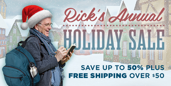 Rick's Annual Holiday Sale - Save up to 50% plus free shipping over $50
