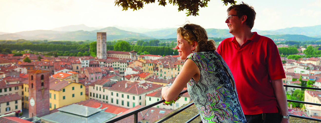 View over Lucca, Italy