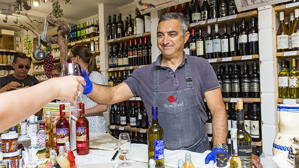 Wine tasting in Alberobello, Italy