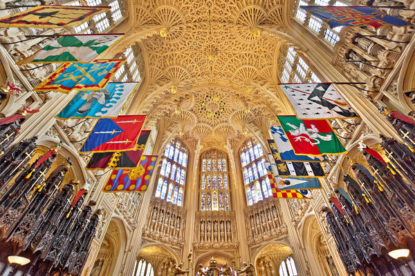 Ceiling of Westminster Abbey, London, England