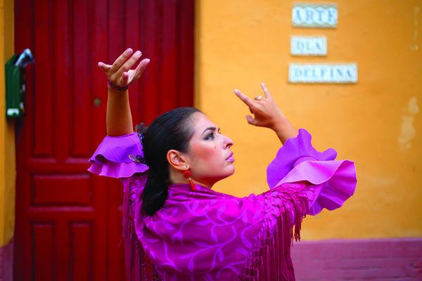 Flamenco dancer in Sevilla, Spain
