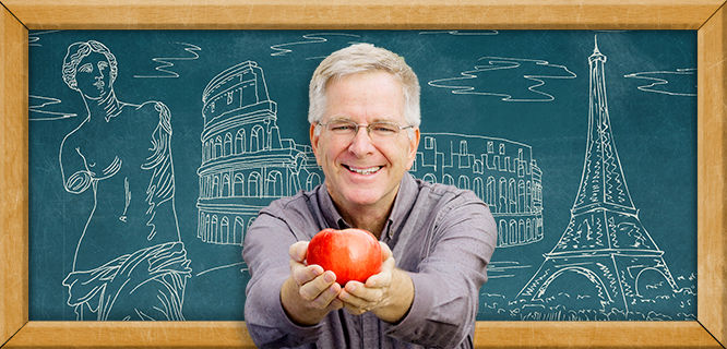 Rick Steves Classroom Europe blackboard