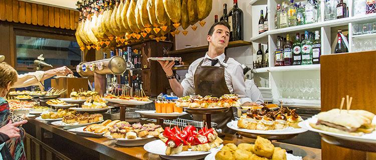 Tapas bar in San Sebastián, Spain