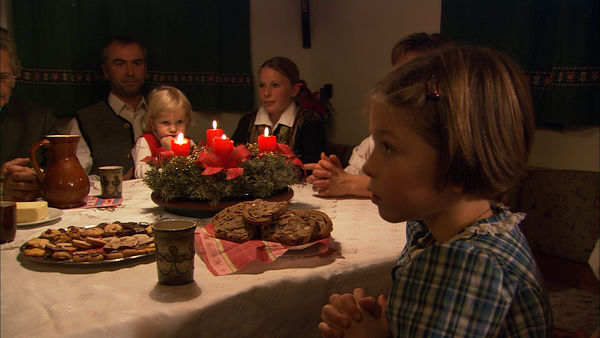 A family sits down for Christmas dinner, Austria
