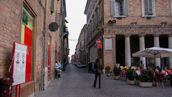 Backstreets of Urbino, Italy