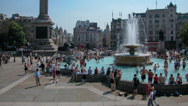 Trafalgar Fountain, London, England