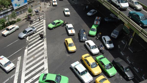 Traffic-filled roads, Iran