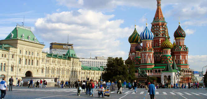 St. Basil's Cathedral and Red Square, Moscow, Russia